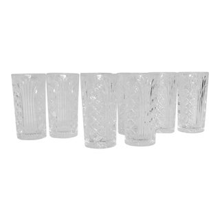 Heavy Cut Crystal Glasses - Set of 8 For Sale