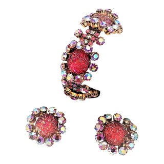Rare Schiaparelli Bracelet and Earrings For Sale