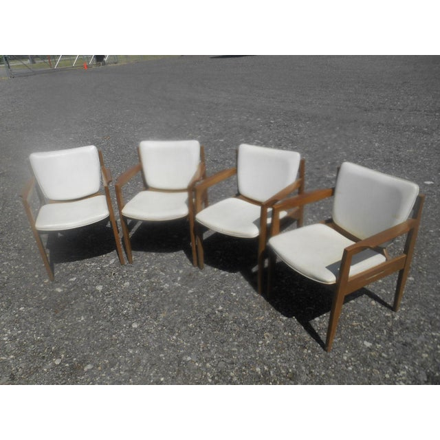 Mid-Century Modern Vintage 1960's Thonet Mid-Century Modern Maple Dining / Side Chairs-Set of 4 For Sale - Image 3 of 10