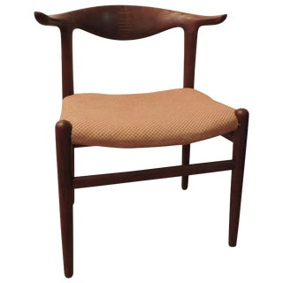 Hans Wegner Teak Cow Horn Chair Model Jh 505 for Johannes Hansen For Sale