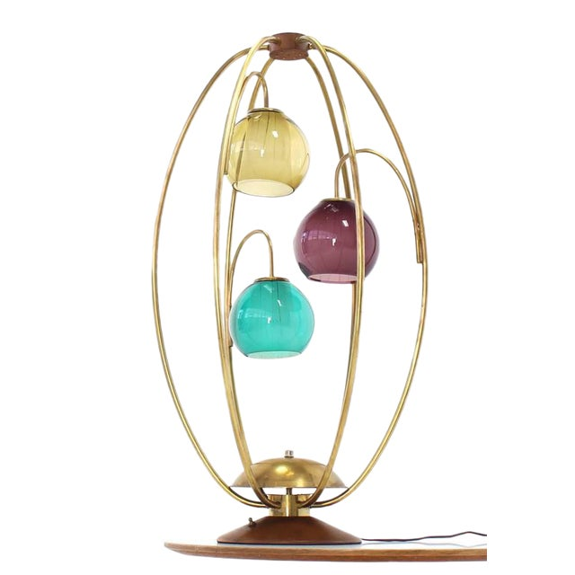 "Distinguished Oval ""Bird Cage"" Brass Table Lamp Purple ..."