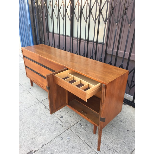 Mid Century Lowboy Dresser With Hidden Vanity by H.Paul Browning for Stanley Furniture Co. For Sale - Image 9 of 13