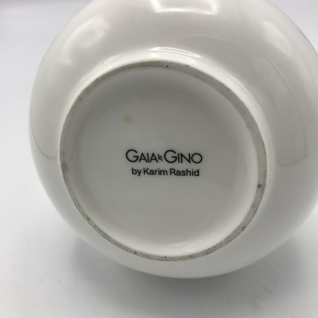 Karim Rashid for Gaia & Gino Modernist Creamy Tea Pot For Sale - Image 5 of 5
