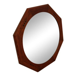 Stickley 21st Century Collection Cherry Inlaid Octagonal Mirror For Sale
