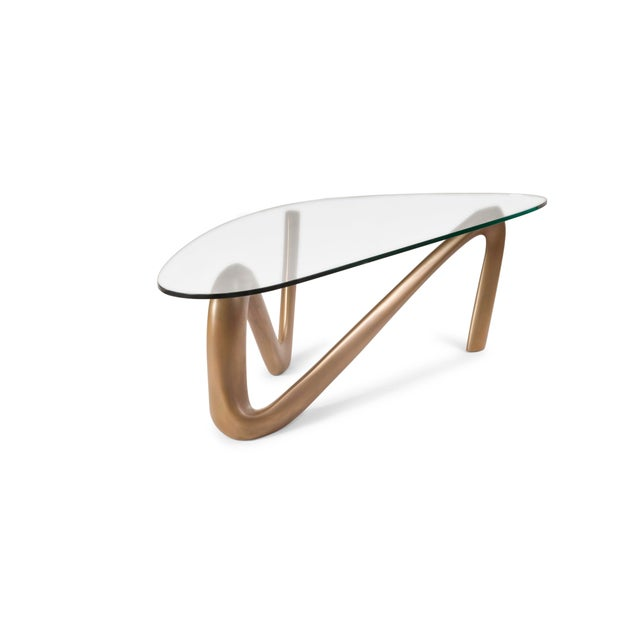 Amorph Amorph Iris Coffee Table - Gold Finish For Sale - Image 4 of 9