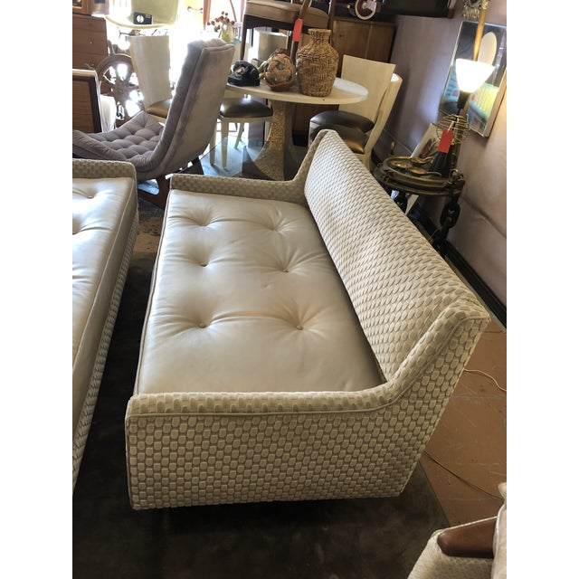 Leather Mid Century Modern Edward Wormley by Dunbar Open Back Sofas Newly Upholstered - Set of 2 For Sale - Image 7 of 9