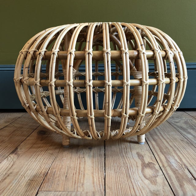 Franco Albini Small Rattan Ottoman - Image 6 of 8
