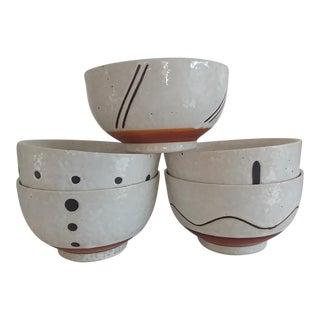 Japanese Pottery Bowls - Set of 5