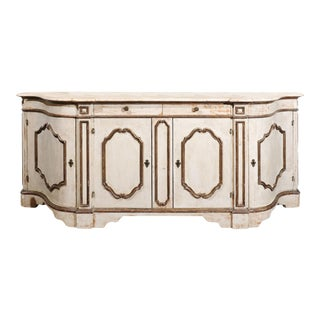 Painted Italian Enfilade with Serpentine Front For Sale