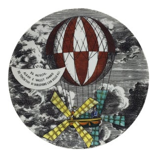 Vintage Piero Fornasetti Mongolfiere Balloon Plate For Sale