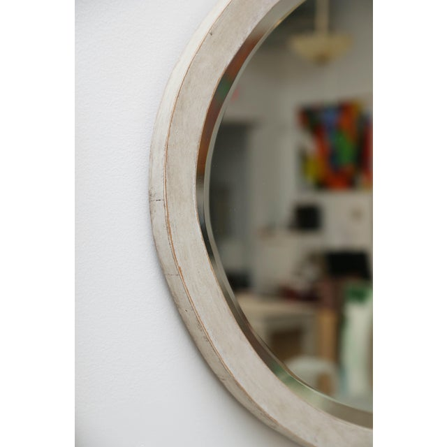 Late 19th Century Antique Swedish Gustavian Style Painted Oval Wall Mirror, Late 19th Century For Sale - Image 5 of 6