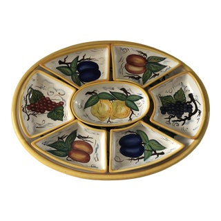 Large Bella Casa Relish Tray - 8 Pieces For Sale
