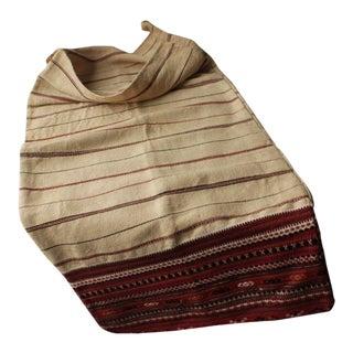 Antique Folk Art Hand-Woven Striped Colorful Textile Grain Sack For Sale