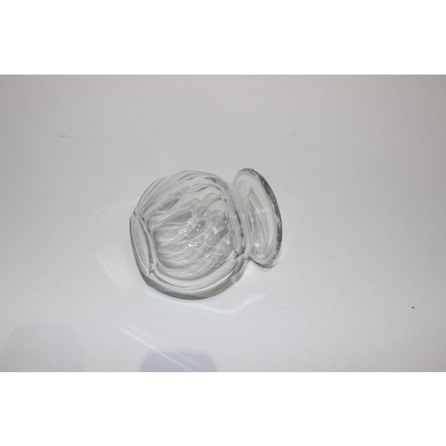 Petit Crystal Vase in Wave Pattern 1940s For Sale In West Palm - Image 6 of 9