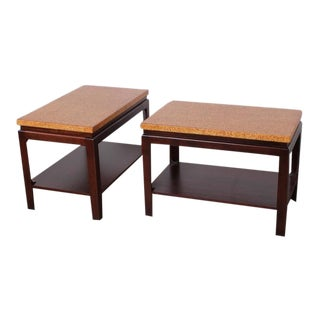 Pair of Cork Top End Tables by Paul Frankl For Sale