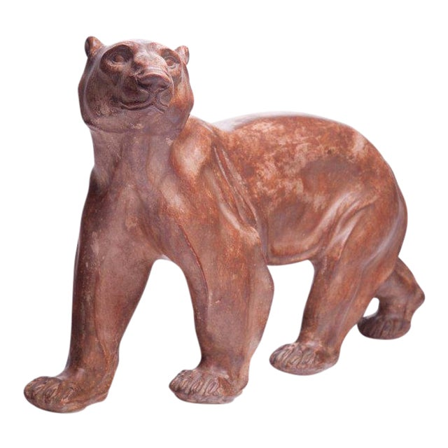 Polar Bear Sculpture Attributed to Atelier Primavera For Sale