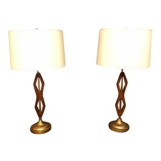Mid-Century Restored Table Lamps - A Pair For Sale