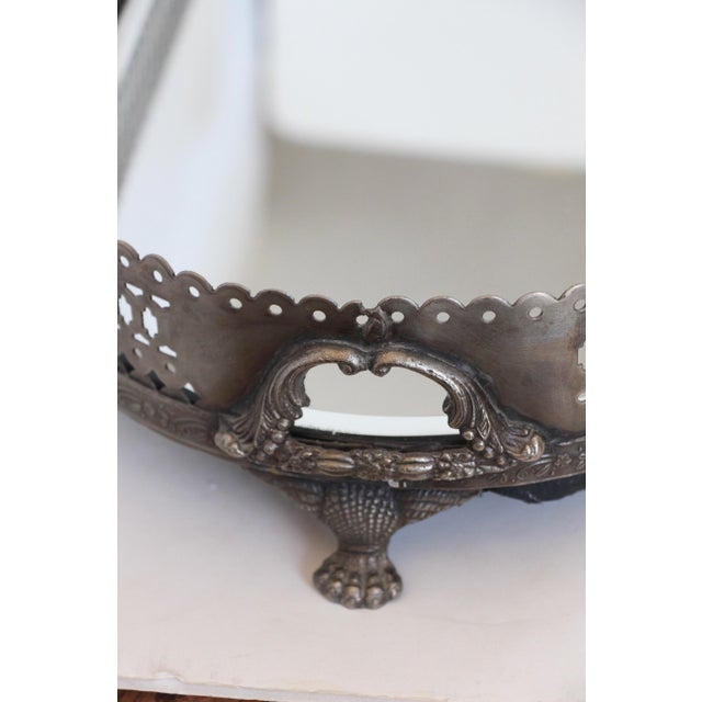 Mirrored Pewter Gallery Tray For Sale In Richmond - Image 6 of 6