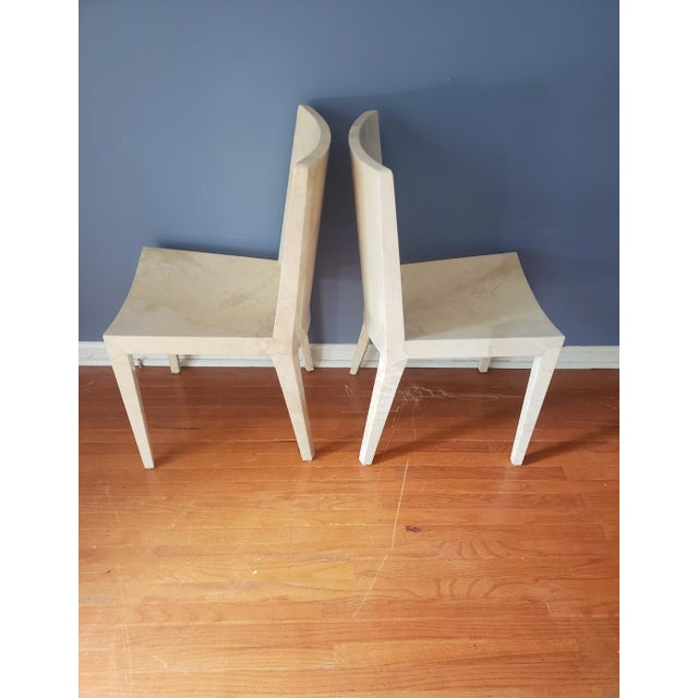 Contemporary 1980s Vintage Karl Springer Jmf Chairs- A Pair For Sale - Image 3 of 13