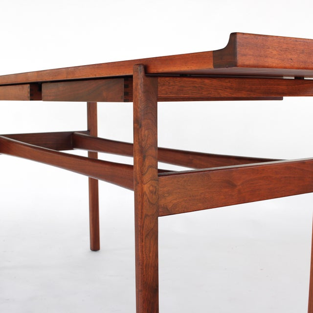 1960s Danish Modern Jens Risom Console Table With 2 Drawers For Sale - Image 11 of 12