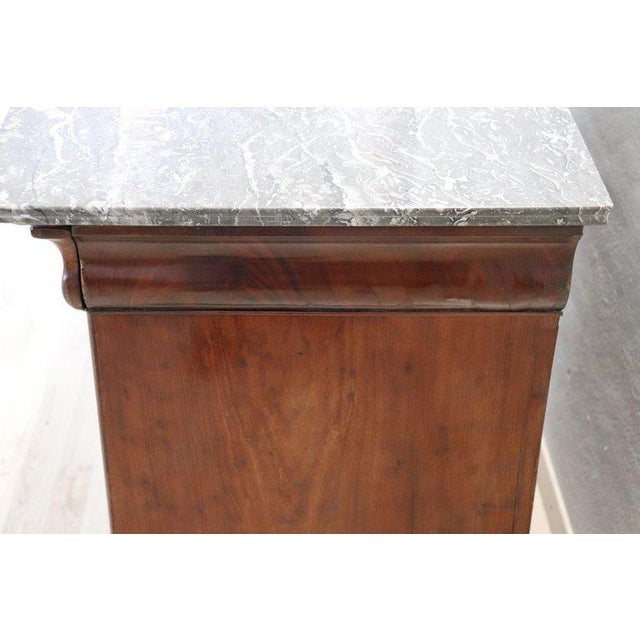 19th Century Italian Mahogany Commode Chest of Drawers With Marble Top For Sale - Image 11 of 13