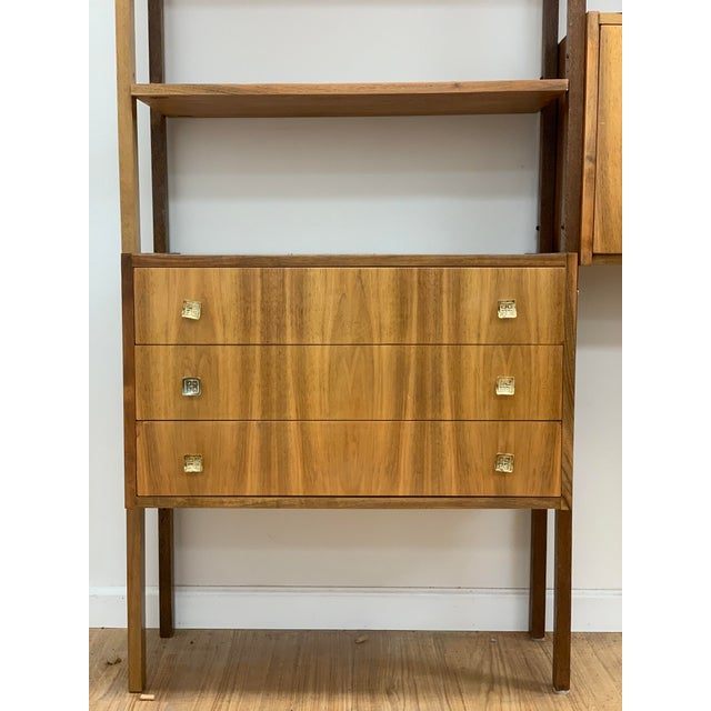 Mid Century Vintage Wall Unit For Sale - Image 4 of 13