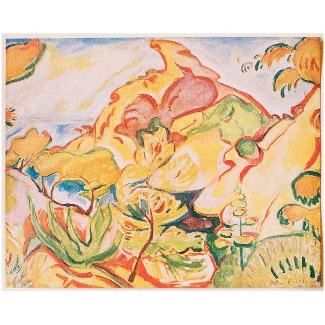 "1948 Othon Friesz, Original Period Lithograph ""Paysage a La Ciotat"" For Sale In Dallas - Image 6 of 8"