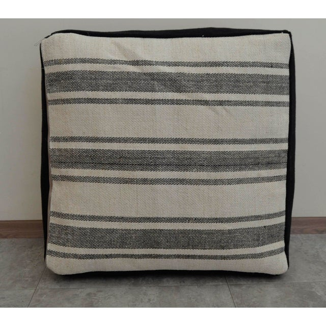 Turkish Handmade Kilim Floor Cushion For Sale - Image 6 of 7