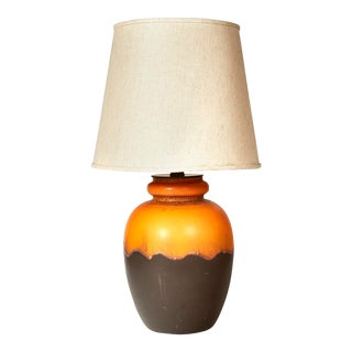 Italian Raymor Volcanic Ceramic Lamp For Sale