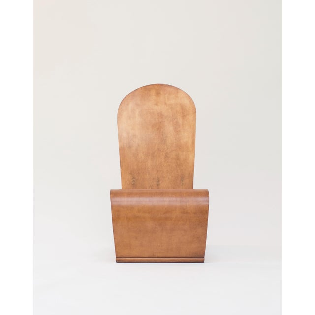 An example of postwar application of technology to design, a 1946 bent plywood chair designed by Herbert von Thaden....