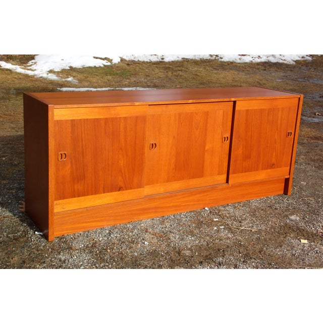 Danish Modern Clausen & Søn Silkeborg Mid-Century Danish Modern Teak Hutch Credenza For Sale - Image 3 of 10