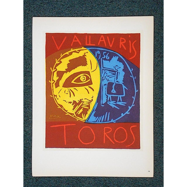 Abstract Vintage Mid Century Color Lithograph-Picasso-Printed By Mourlot For Sale - Image 3 of 3