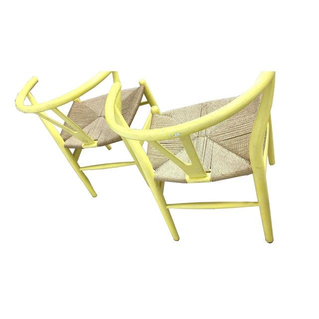 Hans Wegner Wishbone Chairs - Set of 4 For Sale In Wichita - Image 6 of 7