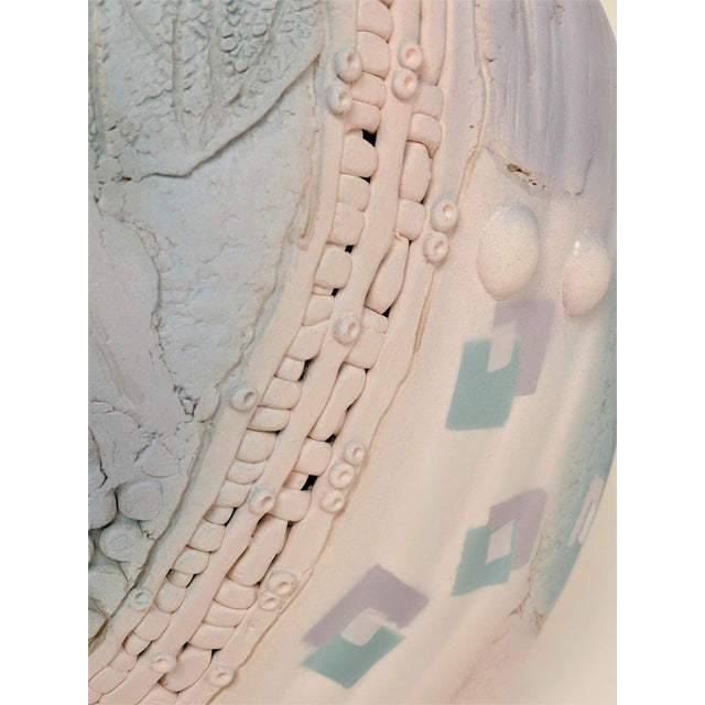 Markiewilz Textured Ceramic Vase For Sale In Miami - Image 6 of 13