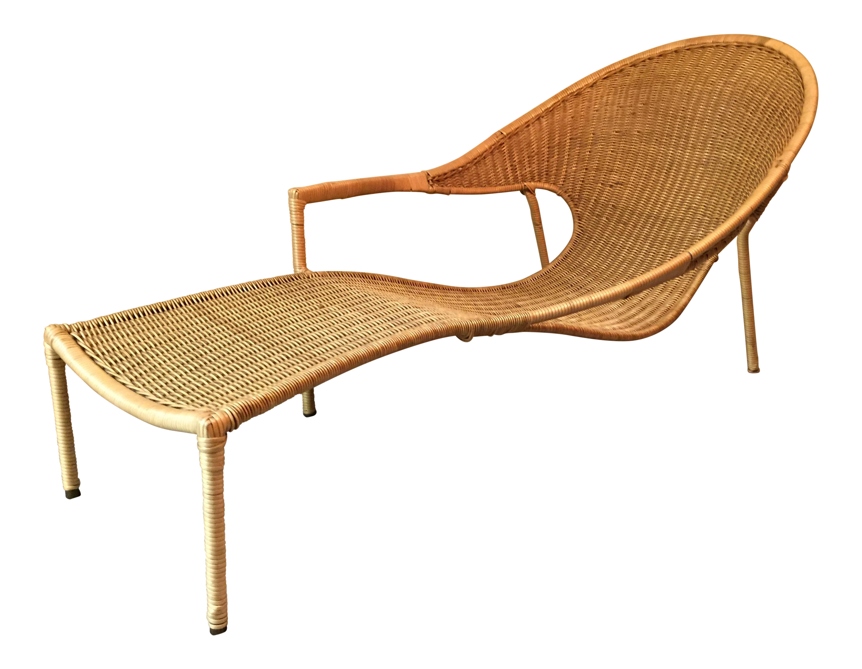 Awesome 1950S Scarce Francis Mair Mid Century Modern Rattan Low Slung Lounge Chair Andrewgaddart Wooden Chair Designs For Living Room Andrewgaddartcom