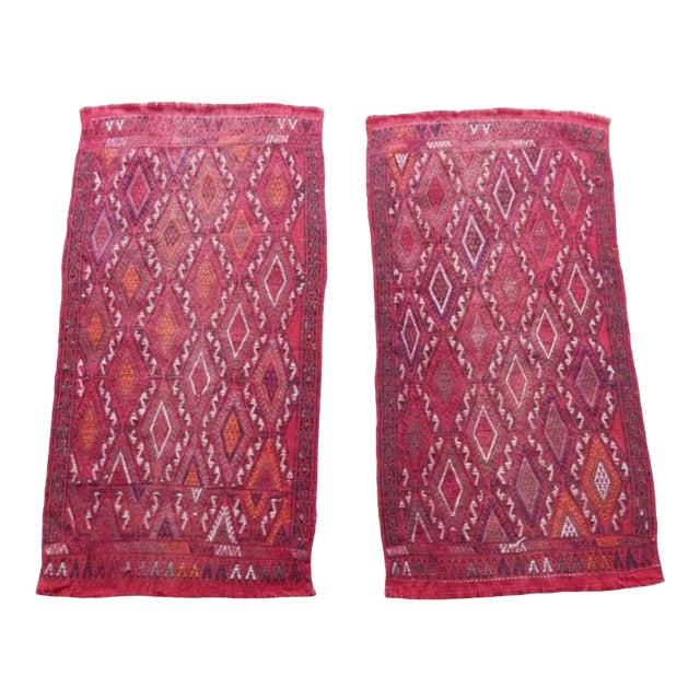 Pair Vintage Turkish Kilim Rug 1′8″ × 3′3″ For Sale
