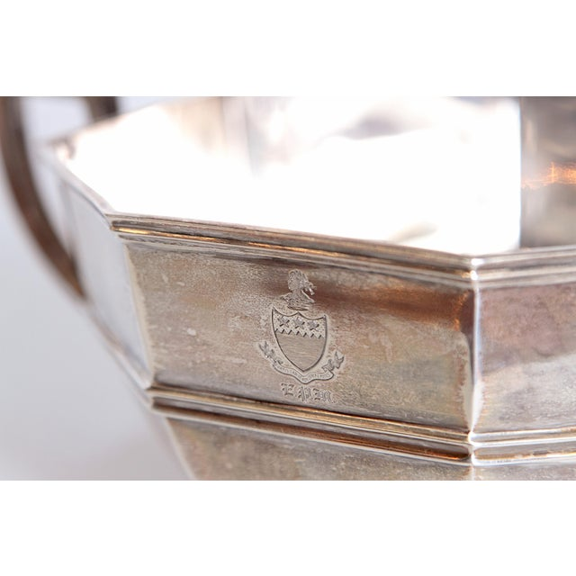 Georgian Amorial Silver Pedestal Bowl / Cup by C. C. Pilling for Tiffany & Co. For Sale - Image 3 of 11