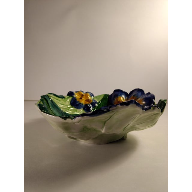 Vintage Italian Hand Painted Iris Bowl - Image 6 of 10