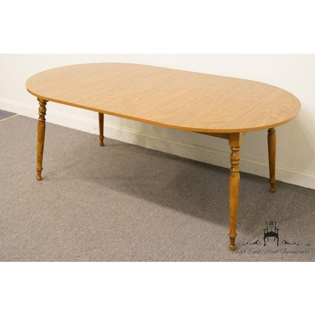Wood 20th Century British Colonial Ethan Allen Heirloom Nutmeg Dining Table For Sale - Image 7 of 9