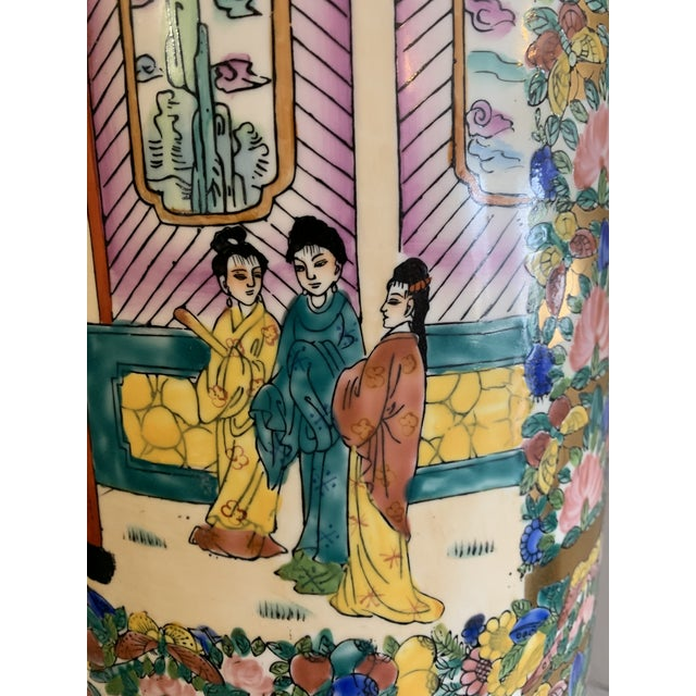Mid 19th Century Chinese Porcelain Cane Stand For Sale - Image 4 of 9