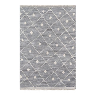"""Erin Gates by Momeni Thompson Appleton Grey Hand Woven Wool Area Rug - 3'6"""" X 5'6"""" For Sale"""