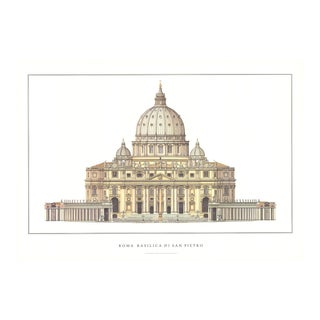 Basilica DI San Pietro, Offset Lithograph For Sale