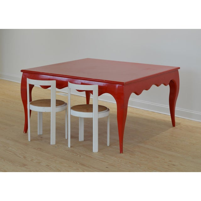 Large Scale Square Dining Table With Cabriole Legs - Image 6 of 8