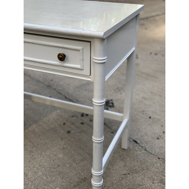 1970s Hollywood Regency Thomasville Allegro Faux Bamboo Writing Desk For Sale In Houston - Image 6 of 12