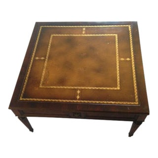 Antique Gold Detailed Wood Coffee Table For Sale
