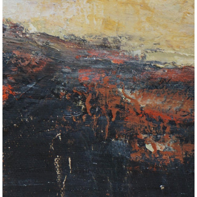 "Laurie MacMillan ""Volcano"" Contemporary Abstract Landscape Mixed-Media Painting by Laurie MacMillan, Framed For Sale - Image 4 of 6"