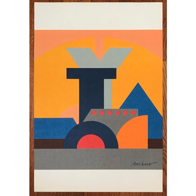 Josua Reichert Lithograph in the Plate Typographic Composition For Sale - Image 9 of 9
