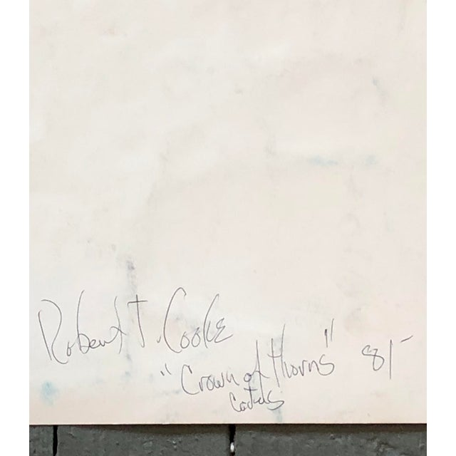 Vintage Original Abstract Still Life Robert Cooke Painting 1980's For Sale - Image 4 of 5