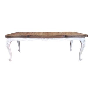 Country French Parquetry Top Refractory Dining Table For Sale