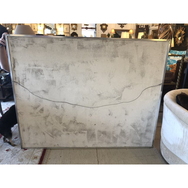 Striking Sailboat Painting in Muted Greys and White For Sale In Philadelphia - Image 6 of 7